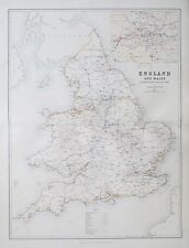 1881 ENGLAND & WALES To Illustrate the Railway System of the Country Map