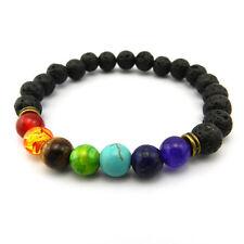 7 Chakra Reiki Bracelet Gemstone Crystal Healing Lava Jewellery Gift