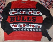 NEW NBA Chicago Bulls Ugly Christmas Holiday Sweater XMAS Men 2XL XXL Klew NWT