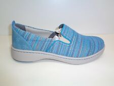 Dansko Size 8.5 to 9 BELLE Blue Canvas Fashion Sneakers New Womens Shoes