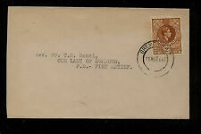Swaziland  30 on  cover  local  use   1947             EX0516