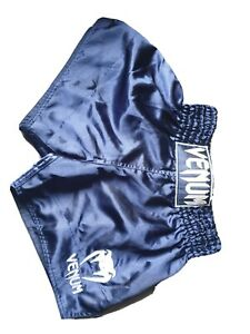 venum muay thai shorts large blue