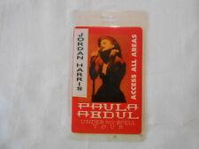 Paula Abdul Backstage Pass Laminated free shipping