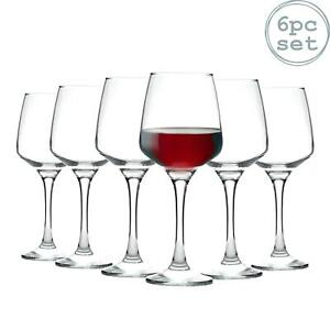 Tallo Red Wine Glasses Contemporary Drinking Glass Set, 400ml - Box of 6