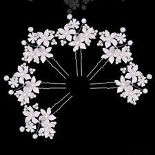 épingle à cheveux Fleur perle accessoire cheveux Mariage Soirée. 10cmx7cm 3 pcs