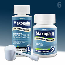 6 Month Mens Maxogain 7in1 Complete Regrowth Hair loss System Minoxidil Exp2018