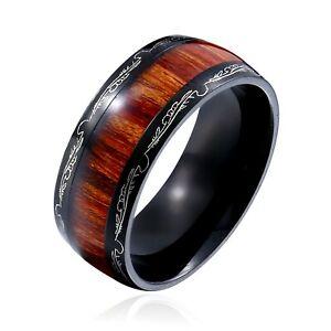 anello di fidanzamento King Will BASIC vestibilit/à comoda finitura spazzolata opaca Fede da uomo in titanio da 6/mm