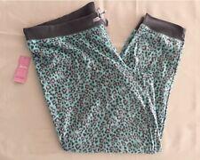 Jenni by Jennifer Moore Heart Animal Fleece Pajama Pants 461028 Green XXL