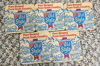 5 Vintage Beer Coaster Heileman's Old Style Pure Brewed From God's Country