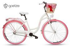 GOETZE Colours 26 Zoll 1-Gange Damen , Fahrrad, Citybikes, Retro ( Weiß Rosa )