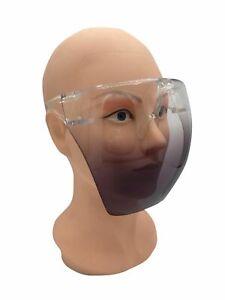 Face Space Shield Protective Mask Transparent Glasses Visor No Fog Gradient Gray