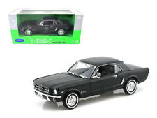 1964 1/2 Ford Mustang Coupe Hard Top Black 1/24 Diecast Car Model By Welly 22451