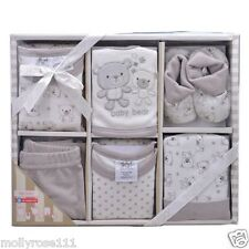 Cotton Baby Boys BQT 6 Piece Layette Set  Outfit ~ 0-6Mths  ~ Gift Boxed Newborn