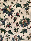1 and 1/2+yds x 52' Wallcovering Fabric Village Blue Floral F.S.C. Schumacher?