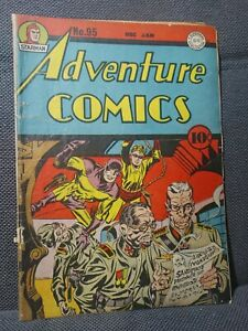 Adventure Comics 95 | 1/45 | WWII cover by Kirby. Sandman by Kane. | VG-
