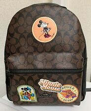 Coach x Disney Collaboration Mickey & Minnie Mouse Signature Backpack rare