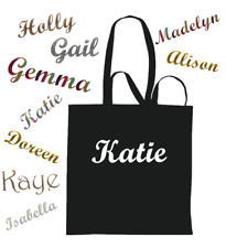 Personalised Bags Custom With NAME Tote Shopping Holiday Gym Beach Bag Gift
