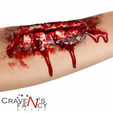 ARM cicatrice HALLOWEEN FANCY DRESS Sangue Zombie sanguinoso Make Up & COLLA