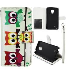 For Samsung Galaxy Note Edge N915 Wallet Triple Owl Case Split Leather Cover