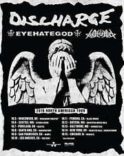 "Discharge / Eyehategod ""2016 North American Tour"" Concert Poster - Hardcore Punk"
