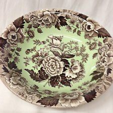 """SPODE BLUE ROOM GARDEN COLLECTION ASCOT COUPE CEREAL BOWL 8"""" BROWN POPPY MINT"""