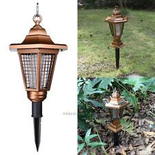 2 LED Solar Powered Outdoor Insect Zapper Anti Mosquito Light Killer Lawn Lamp