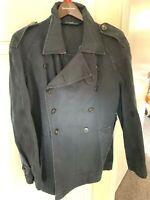 Ralph Lauren Polo Black Rose Pea Coat  Large