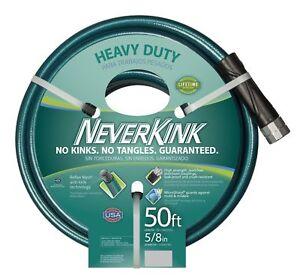 NEVERKINK PRO 5/8 in. Dia x 50 ft Commercial Duty Water Hose Garden Heavy Duty