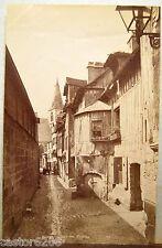 4 PHOTOS ANCIENNES fin XIXè ROUEN Photographe HERLUISON Cathédrale Panorama ...