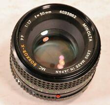 Vintage Minolta 50 mm F 1.7 MC Rokkor-X PF No. 4185913