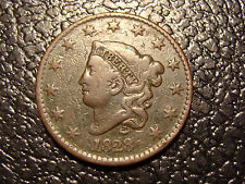 RARE 1828 Coronet Head Large Cent N-4 R-4 CONDITION CENSUS STARTS AT FINE