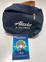 Vintage ALASKA AIRLINES TOILETRY BAG W/ POSTCARD