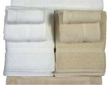 24 (2 DZ) LARGE WHITE COTTON HOTEL HAND TOWELS PREMIUM* ST MORITZ BRAND