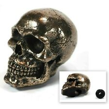 SKULL STICK SHIFT KNOB Gear Bronze Resin NEW Skeleton Goth Lever Car Truck Biker