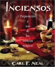 Inciensos Preparación y uso de las esencias mágicas NEW Libro Carl F. Neal