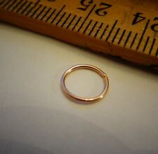 Nose Ring 14k SOLID PINK ROSE GOLD 22 Gauge ga Tragus Helix Small Hoop Earring