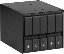 """(3 x 5.25""""-to-5 x3.5"""" SAS/SATA 6.0G-HDD)(Aluminum Hot-Swap Cage Backplane ) NEW"""
