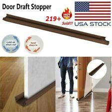 Twin Door Draft Dodger Guard Stopper Energy Saving Protector Doorstop Decor USA