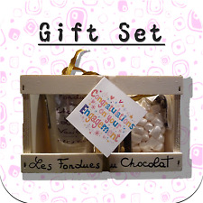 """Congratulations Engagement"" Chocolate Fondue + Mini Marshmallow Gift Set WC1"