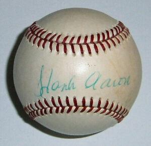 BRAVES Hank Aaron signed AL baseball JSA LOA AUTO Autographed Brewers Milwaukee