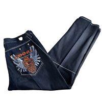Coogi Australian Jeans Denim Men's Sz 42X35 Hip Hop Embroidered Gold Label