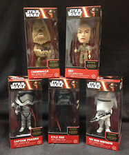 STAR WARS FORCE AWAKENS BOBBLE-HEAD SET/LOT FUNKO DISNEY FIRST ORDER JEDI EMPIRE
