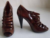BALLY Strappy Platform Peep Toe Pump Heels Sandals Shoes Size EU 39 UK 6 RP £450