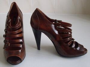 BALLY Switzerland Platform Strappy Pump Heels Shoes Size EU 39 UK 6 RRP £450