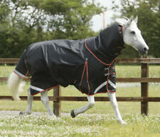 Premier Equine - Buster 100g Turnout Rug With Classic Neck Cover Black or Navy