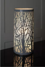 Tree Scene Touch Pad Teardrop Touch Lamp Slim and Sleek Cylinder Shade