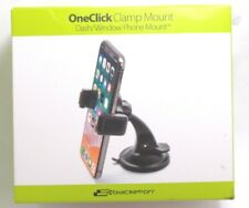 Bracketron - OneClick Dash Mount for iPhone 11/XR/X/8 Galaxy S10/S9 - Gray/Black