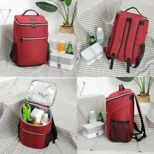 20L Red Lunch Box Bag Tote Hot Cold Insulated Thermal Cooler Work School Travel