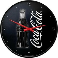 Coca Cola Good Taste Nostalgie Wanduhr Glas 31 cm Wall Clock Neu