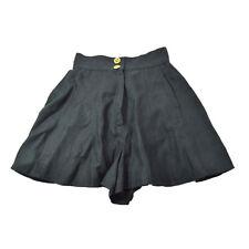CHANEL CC Logos Button Short Pants Culotte Black Authentic AK38570j